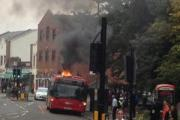 Bus carrying school children catches fire